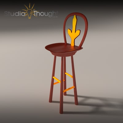 3d model bar stool virginia tech