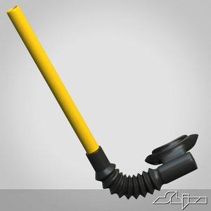 3d model of snorkel