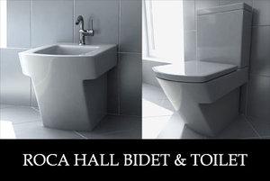 roca hall toilet bidet 3d model
