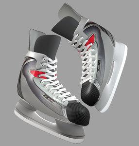 ice hockey skates 3d obj