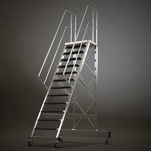 storage ladder 3d model