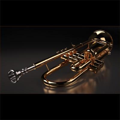 trumpet 3d max