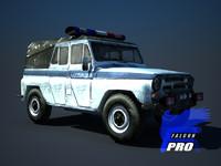 3d uaz - russian police model