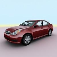 2010 subaru legacy sedan 3d model