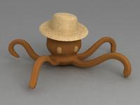 3ds max octopus hat