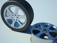wheel slick tire 3d model