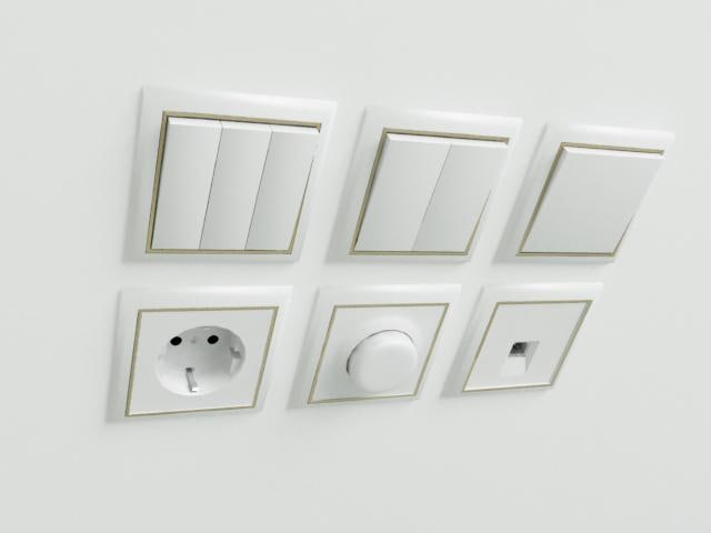 3d switches socket