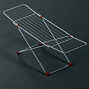3d clothes dryer rack drying model