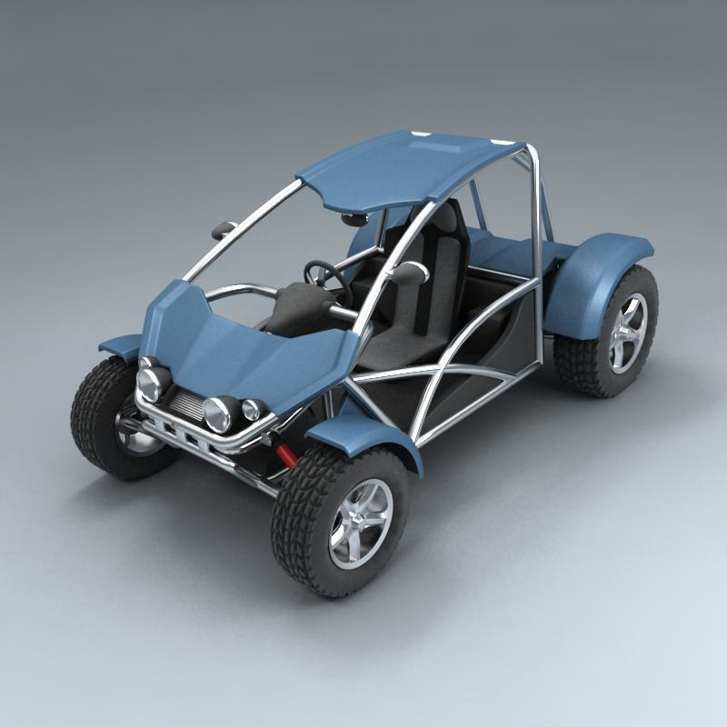 buggy vehicle 3d model