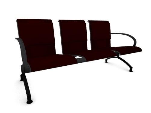 3dsmax lounge seat airport