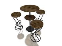3d stool exhibition office model