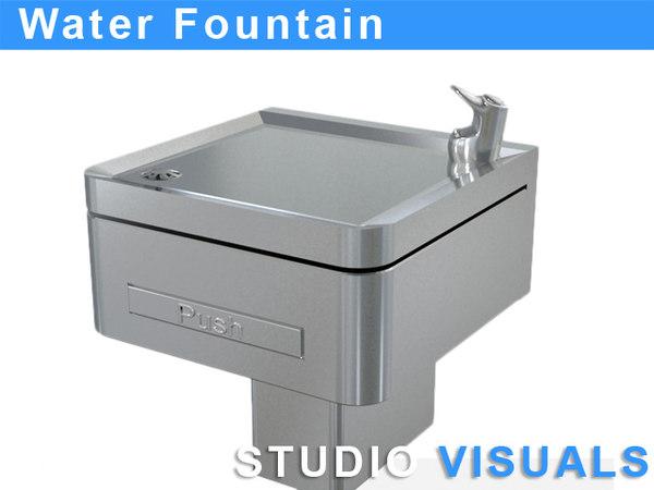 3d drinking water fountain model