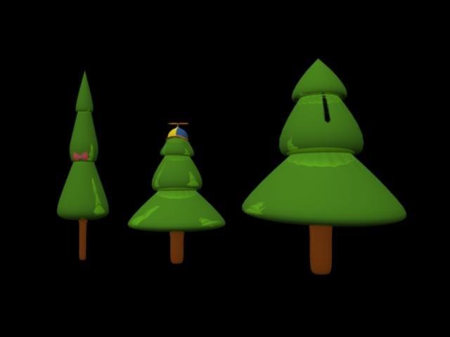 3ds max fir trees
