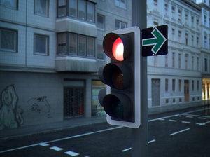 3d xpresso driven traffic light