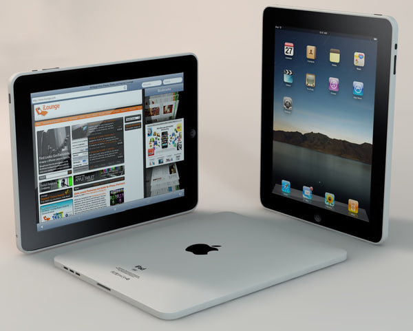 3d apple ipad model