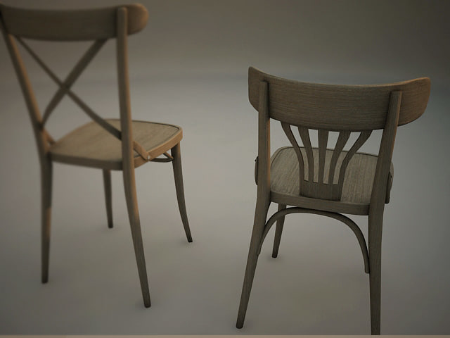 3ds max pub chairs