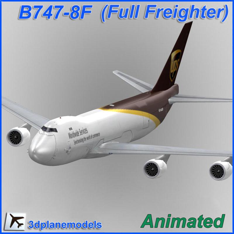 3d b747-8 ups 747