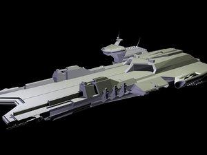 free gundam carrier 3d model