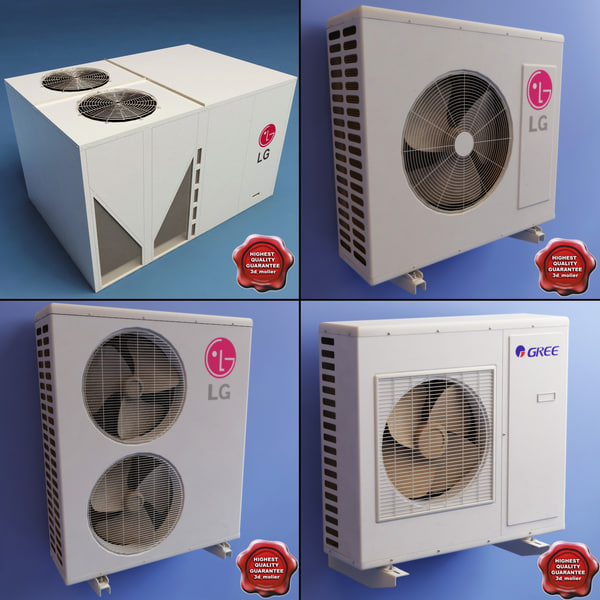 air conditioners 3d 3ds