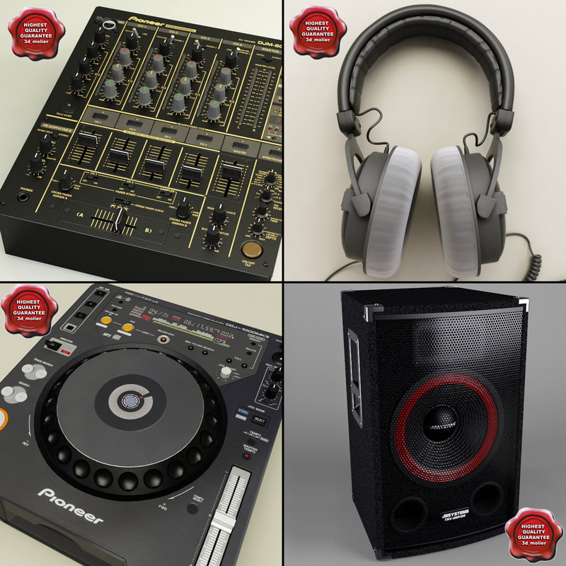dj equipment v1 3d model