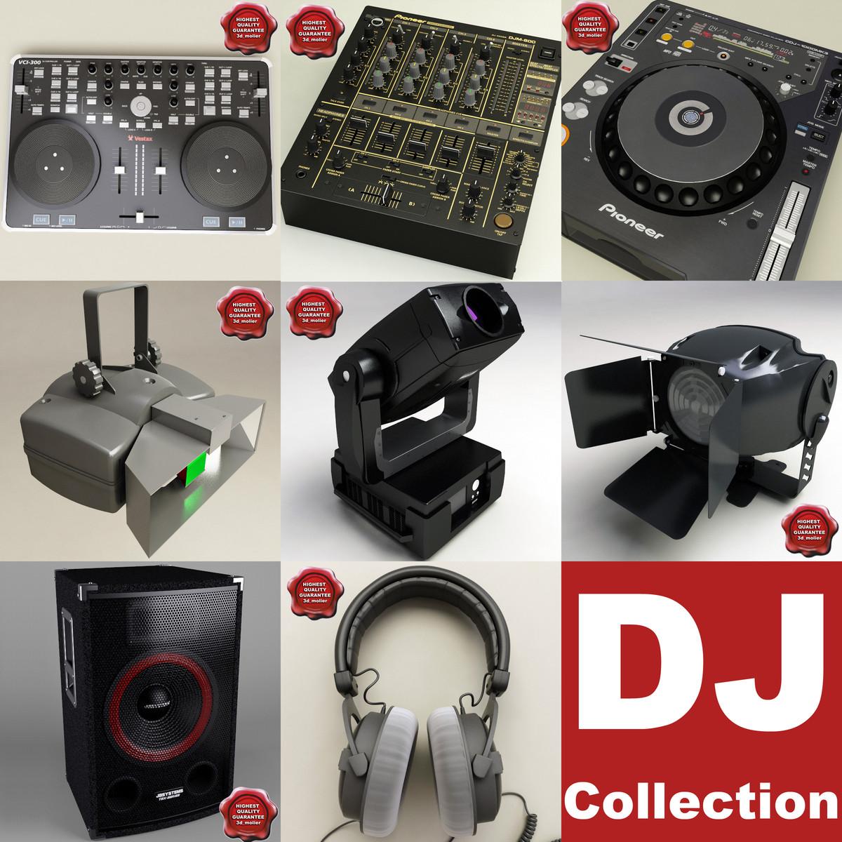 3d dj equipment v2 model