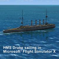 ww1 hms drake 3d model
