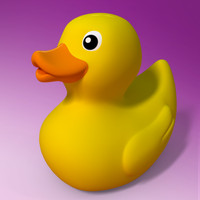 3d model rubber duck