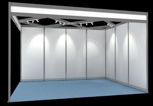 shell scheme exhibition display 3d obj