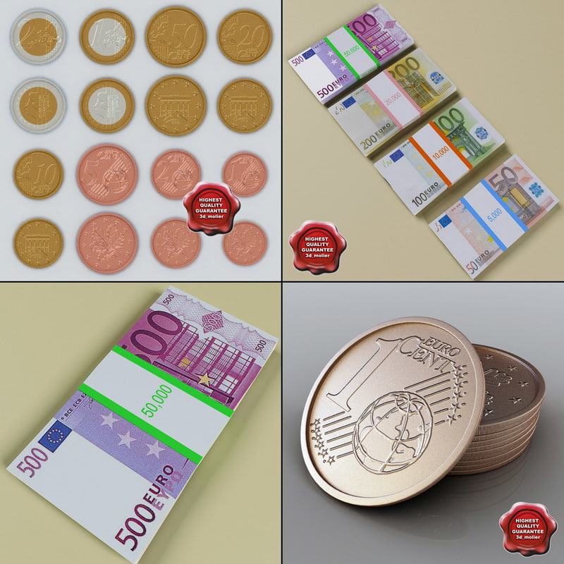 euro money 3d model