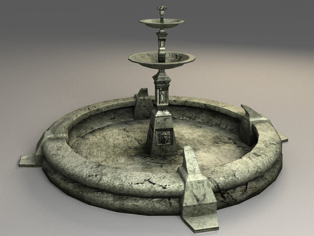 3ds max old fountain - next-gen