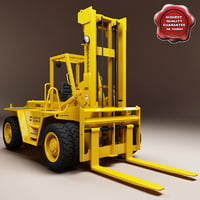 3d model forklift modelled