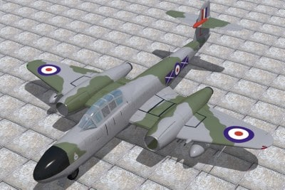 cinema4d armstrong whitworth meteor fighter