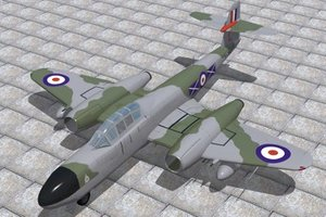 armstrong whitworth meteor nf11 3d 3ds