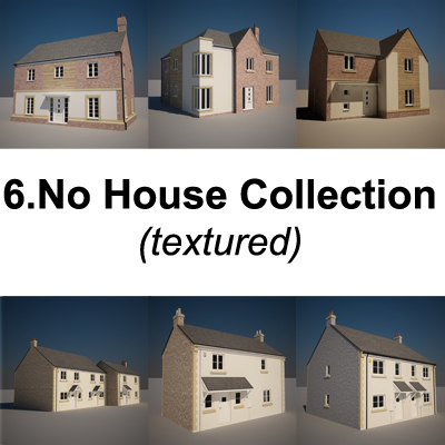 storey family houses 3d max
