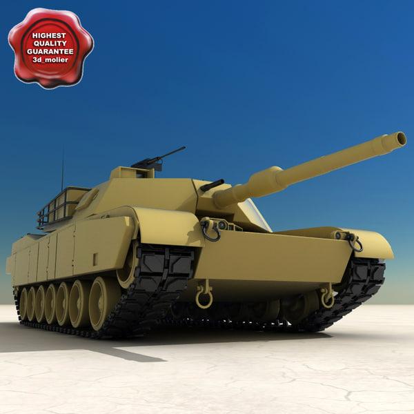 m1a1 abrams tank c4d