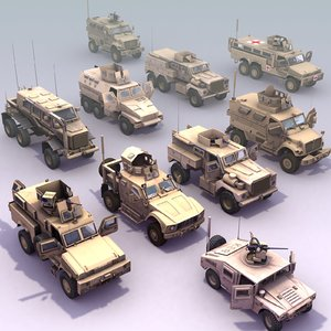 mrap truck army 3d 3ds