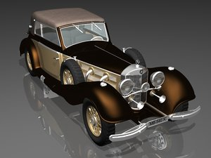 3d mercedes benz 540k model