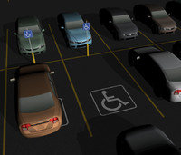 3d model parking lot