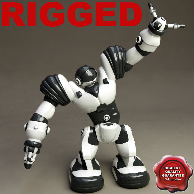 3ds max robot toy robosapien rigged