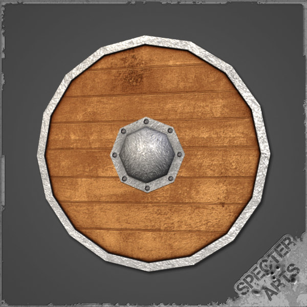 nordic shield wooden 3d 3ds