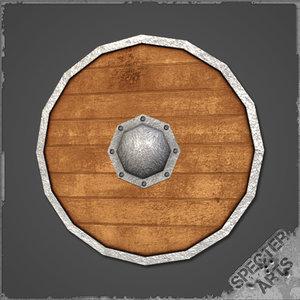 nordic shield wooden 3d 3ds