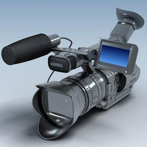 hd camcorder sony hdv 3d model