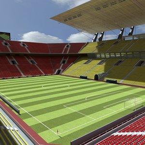 3dsmax football stadium