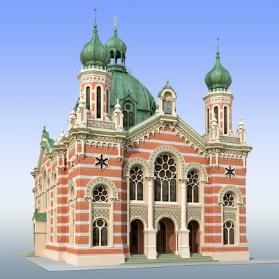 jewish synagogue 3d 3ds