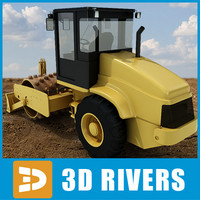 Vibratory soil compactor 03 by 3DRivers