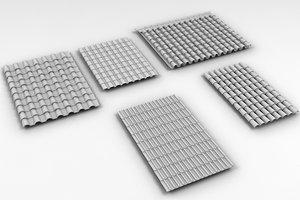 roof tiles obj