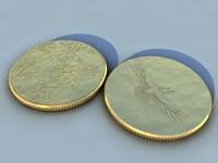 3d coin model