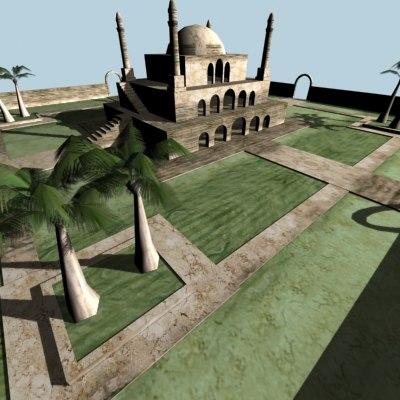 arabic mosquet 3d model