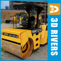 3d asphalt compactor industrial vehicles