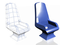 3d new blue styled chair